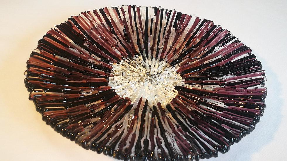 Round Platter - Plum brown