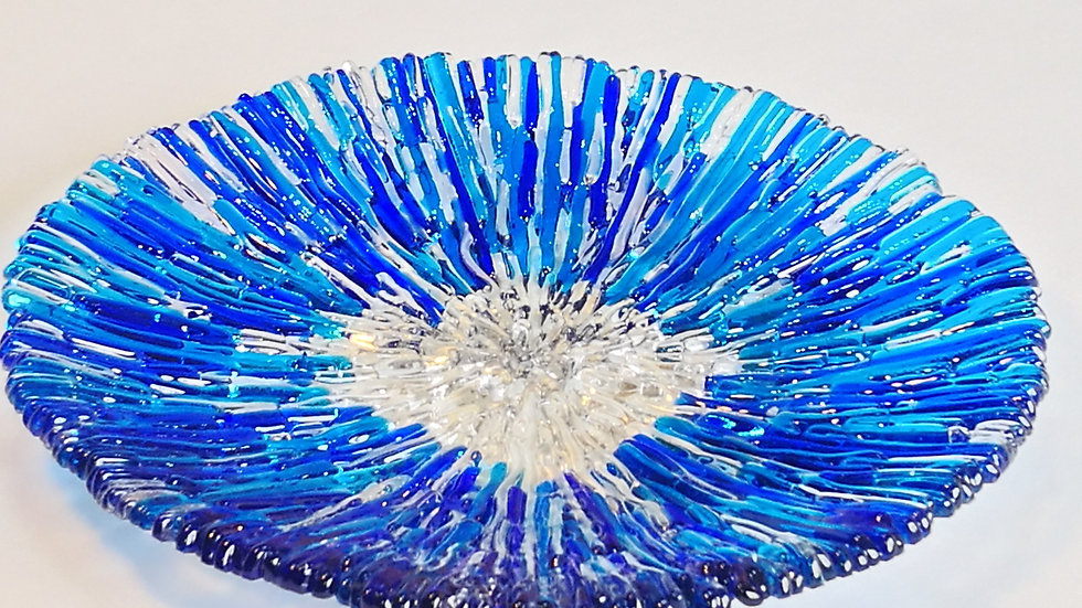 Round Platter Blue