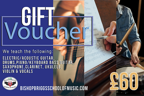 Music Lessons Gift Voucher (4 Week Block)