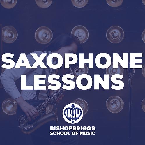 SAXOPHONE LESSONS (4 WEEK BLOCK)