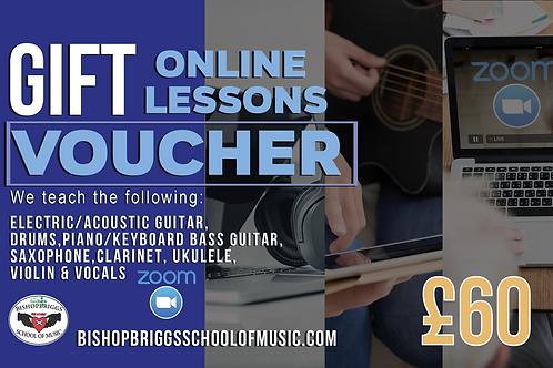 Online Music Lessons Gift Voucher (4 Week Block)