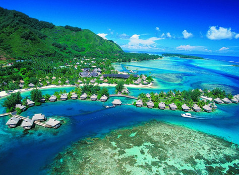 Silky Sands, Turquoise Surf of Tahiti!