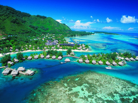Silky Sands, Turquoise Surf of Tahiti!