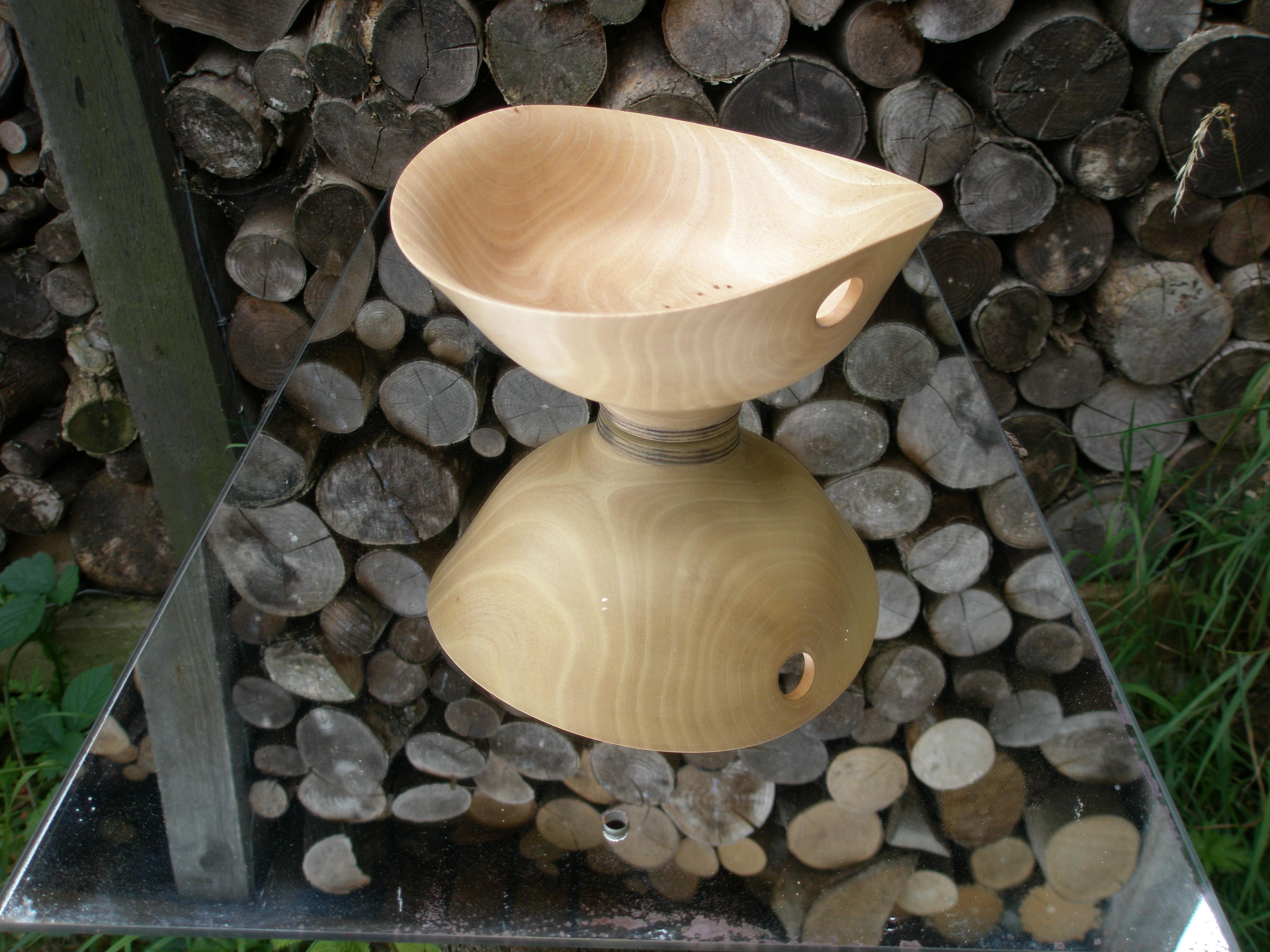 pierced walnut bowl