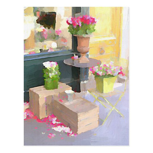 Paris Flower Shop Postcard-Blank