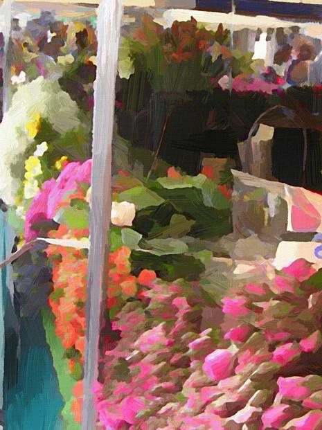 Paris Flower Market IV (Portrait)