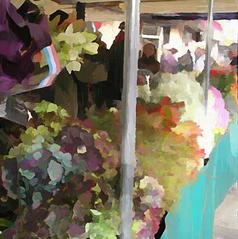 Paris Flower Market VI (Square)