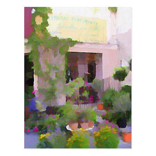 South of France Flower Shop Postcard-Blank