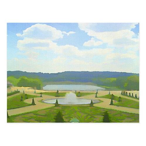 Garden of Versailles I Postcard-Blank
