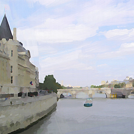 Cruising the Seine (Square)