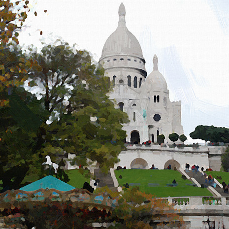 Paris Carousel V (Square)