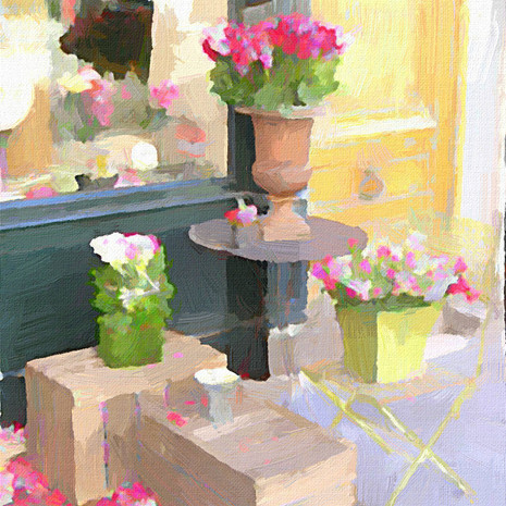 Paris Flower Shop III (Square)