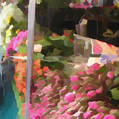 Paris Flower Market IV (Square)