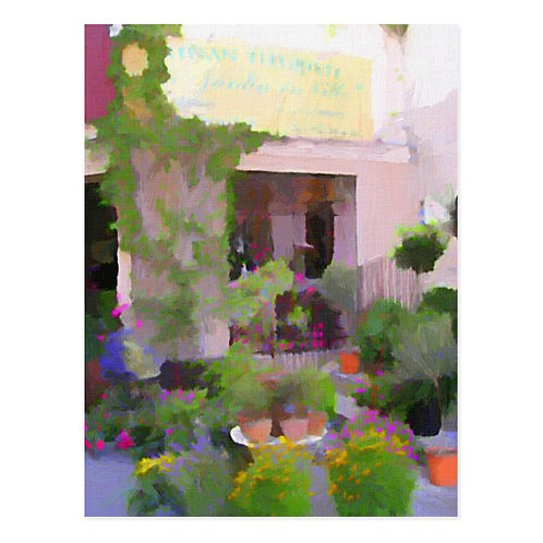 South of France Flower Shop Postcard