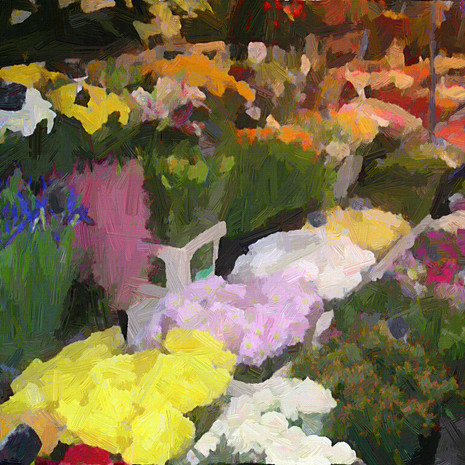 Paris Flower Market I (Square)