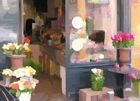 Paris Flower Shop II (Landscape)