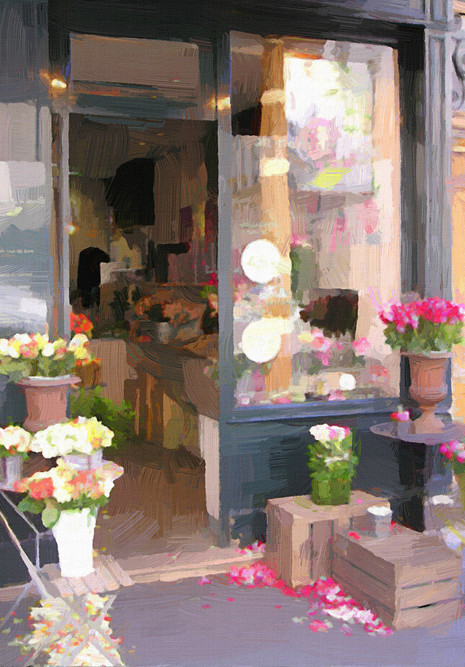 Paris Flower Shop II (Portrait)