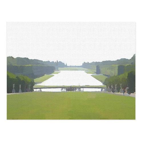 Garden of Versailles II Postcard