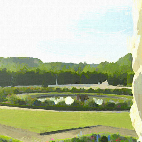 Gardens of Versailles III (Square)