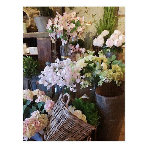 Cotswold Flower Shop Postcard-Blank