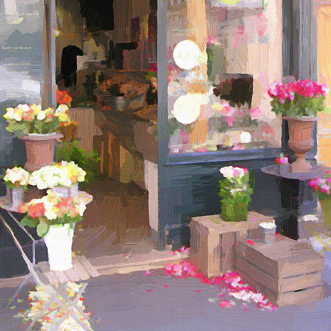 Paris Flower Shop II (Square)