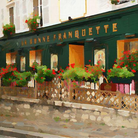 Paris in Green (Square)