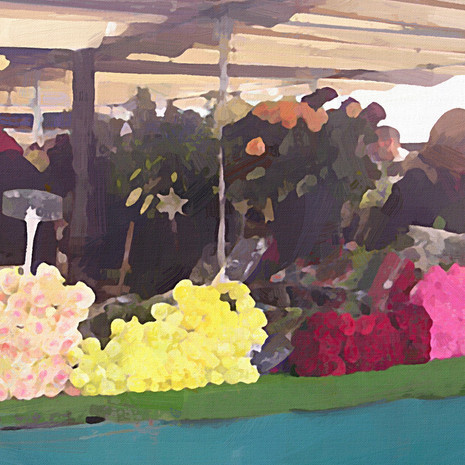 Paris Flower Market III (Square)