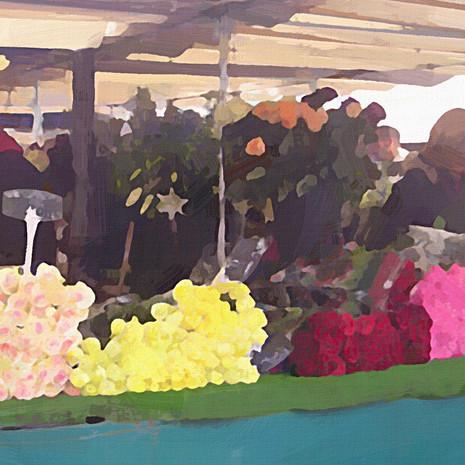 Paris Flower Market III (Square)