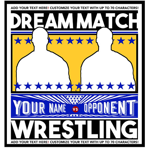 Fully Customized Dream Match (includes 2 shirts)
