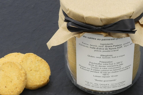 Préparation de sablé au noix du Dauphiné prête à cuire