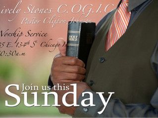 Join Us This Sunday At Lively Stones!