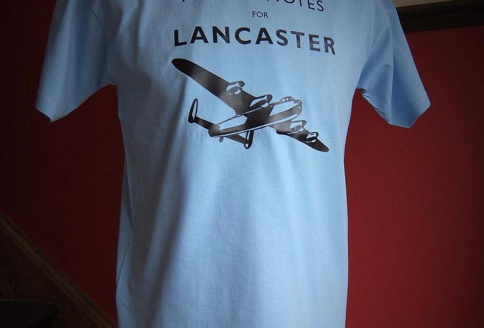 Lancaster Pilots Notes T Shirt