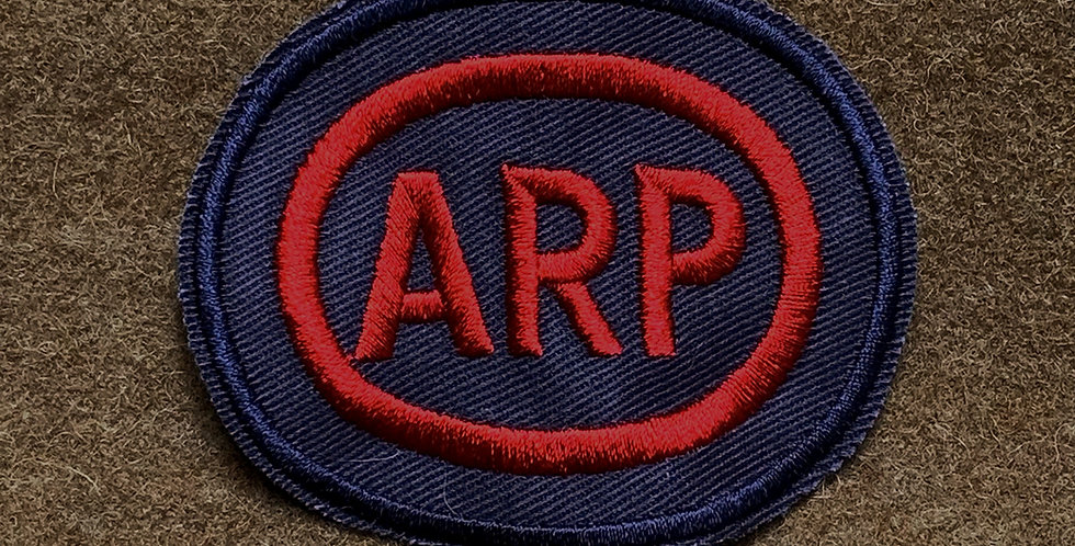 Red Oval ARP Breast (Chest) Badge
