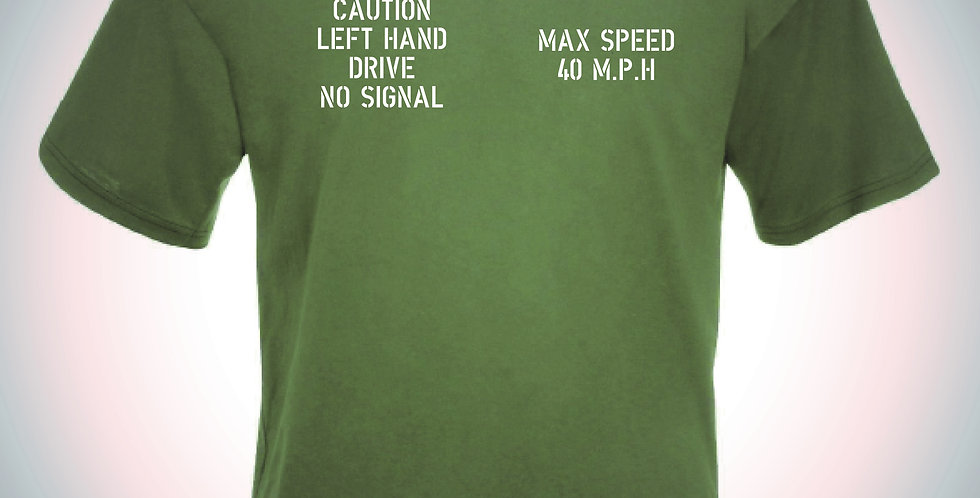 WWII Jeep Max Speed T Shirt