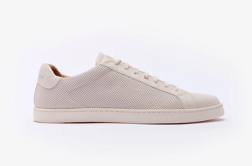 The Sorby Long Lace Trainer (Off White)