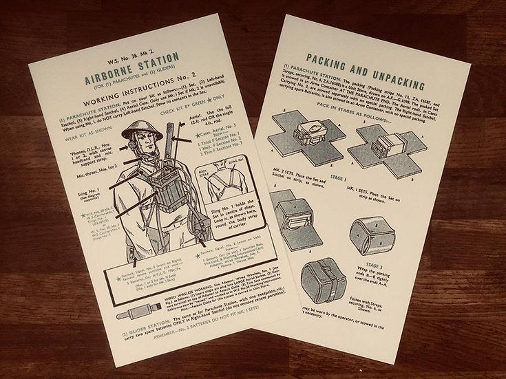 Wireless Set 38 (Airborne) Instruction Card