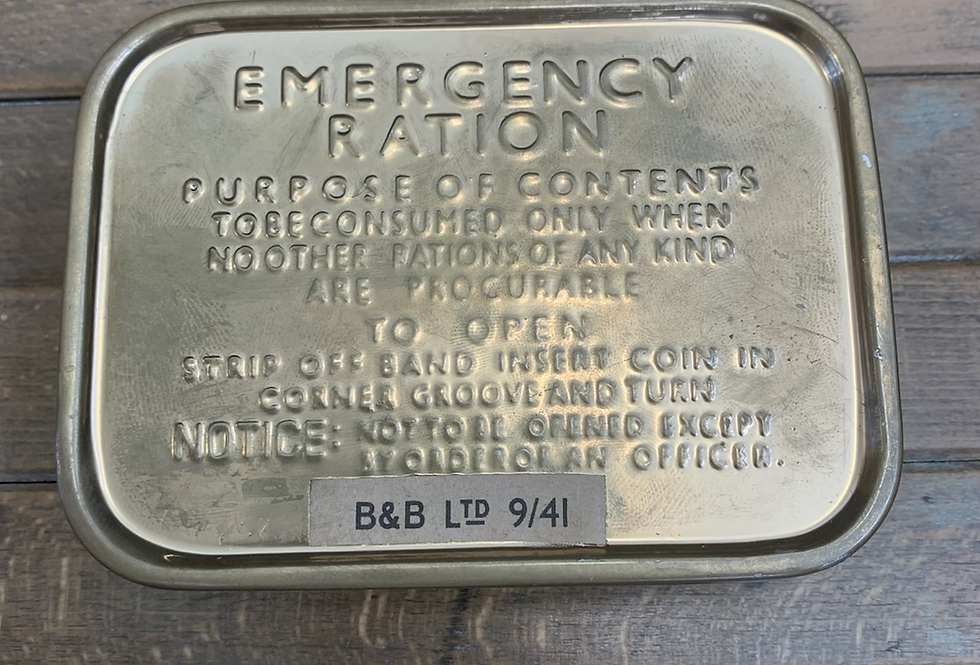 Emergency Ration Tin Ex Display