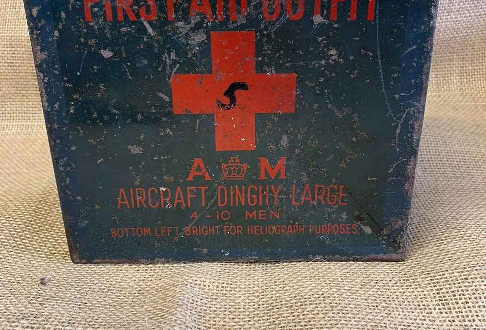 Air Ministry First Aid Tin 1943 dated