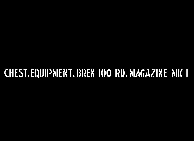 Bren Gun 100 Rd Mag Chest (Single)