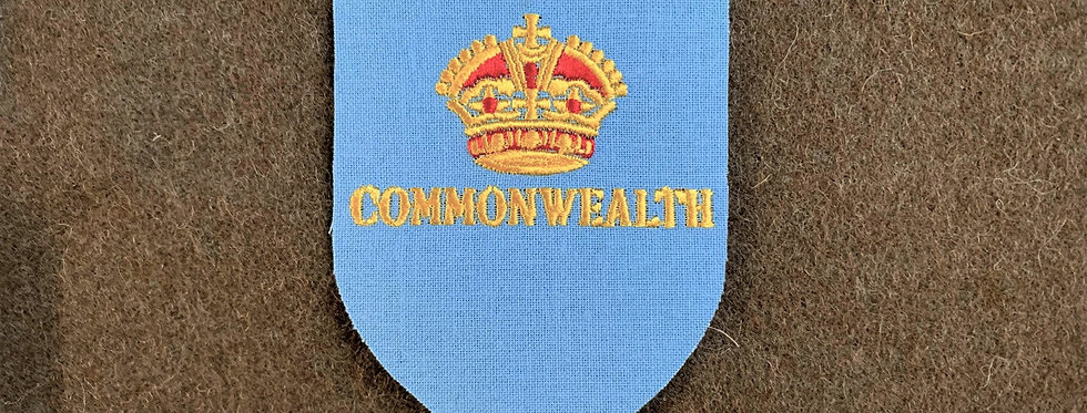 1st Commonwealth Division (Embroidered on cotton)
