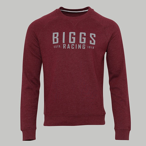 Biggs Racing Sweater in Cherry Red