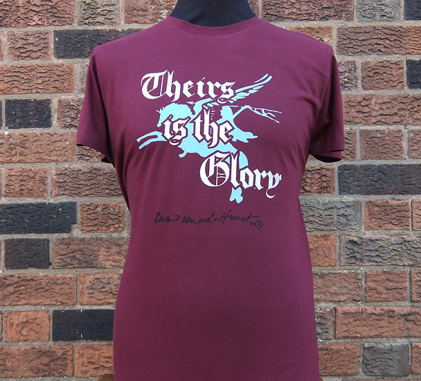 """Theirs is the Glory"" Film Pegasus Design Airborne T Shirt 75th Ann"