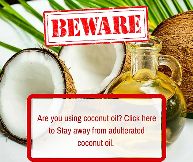Adulteration in coconut oil  Are you a victim? | SRM Gold