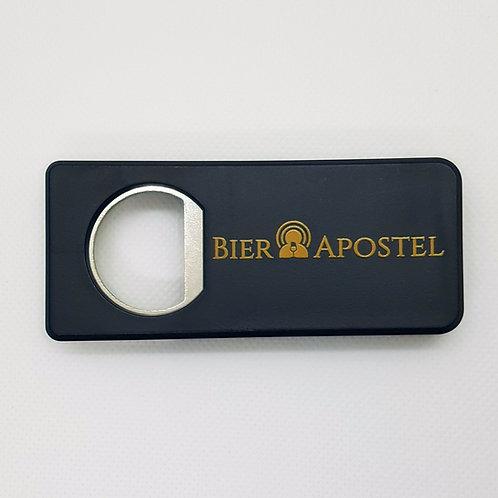 Flaschenöffner schwarz mit Bierapostel Logo