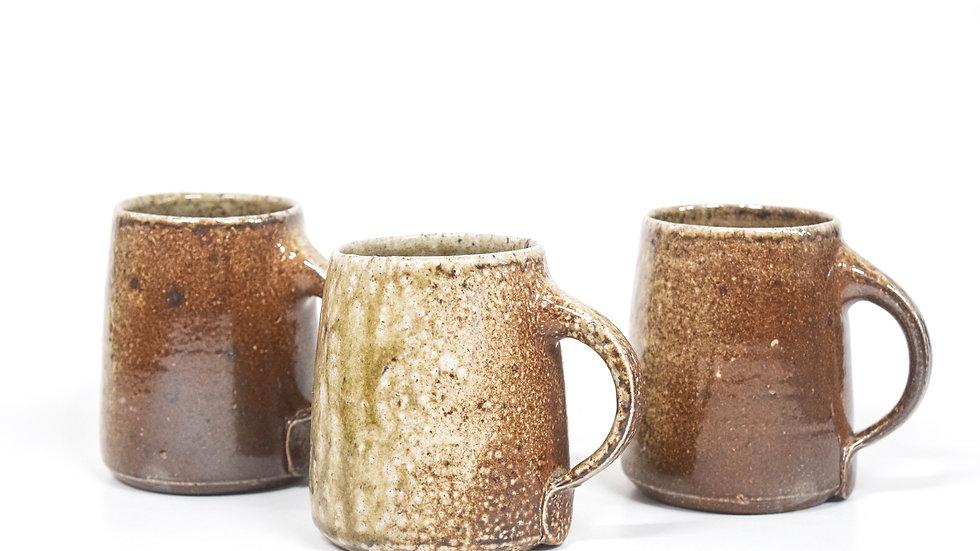 Wood Fired Salt Glazed Mug, Toasty Salt Glaze
