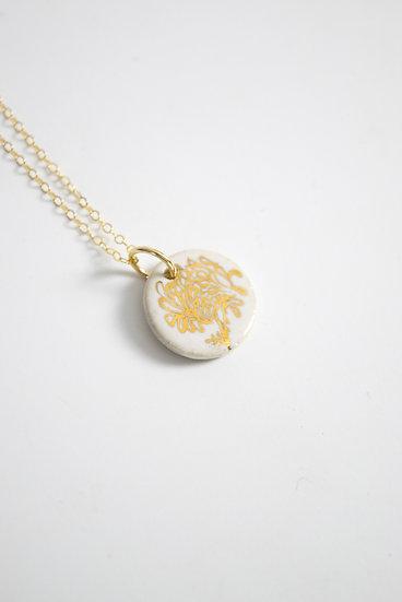 """Chrysanthemum"" | November Birth Flower, Anniversary, Special Occasion Necklace"