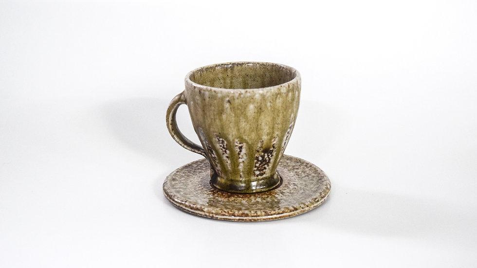 Wood Fired Salt Glazed Tea Cup, Traditional Salt