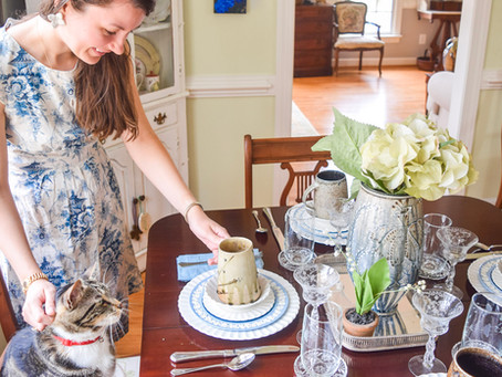 Set Your Spring Table with Pottery & Other Collected Items