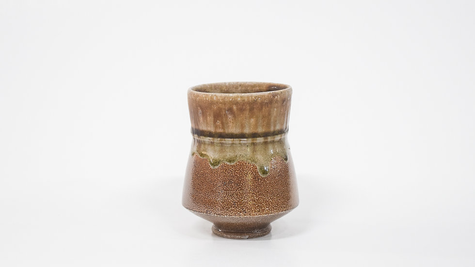 Wood Fired Salt Glazed Juice/Wine Tumbler, Dark Salt