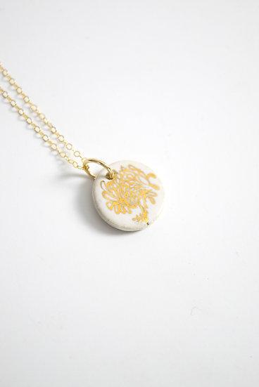 """Chrysanthemum""   November Birth Flower, Anniversary, Special Occasion Necklace"